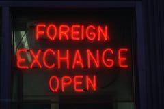Sinal da divisa estrageira Imagens de Stock