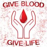 Sinal da doação de sangue Fotos de Stock Royalty Free