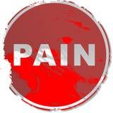 Sinal da dor de Grunge ilustração do vetor