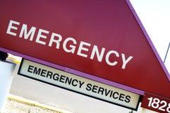 Sinal da emergência Foto de Stock