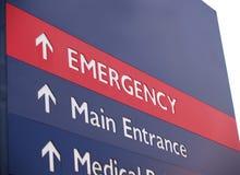 Sinal da emergência com espaço da cópia Imagem de Stock Royalty Free