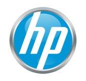 Sinal da empresa de HP foto de stock