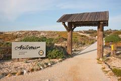Sinal da entrada ao parque de estado de Asilomar Imagem de Stock Royalty Free