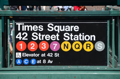 Estação do Times Square do metro de New York City Fotos de Stock Royalty Free