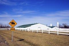 Sinal da equitação de Horseback foto de stock royalty free