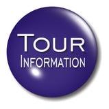 Sinal da esfera da tecla da informação de excursão Imagem de Stock