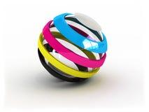 Sinal da esfera de CMYK Fotografia de Stock Royalty Free