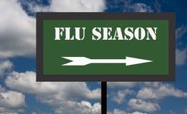 Sinal da estação de gripe Imagem de Stock