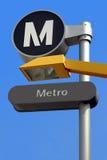 Sinal da estação do Barramento-Metro Imagem de Stock