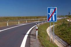 Sinal da estrada Fotografia de Stock