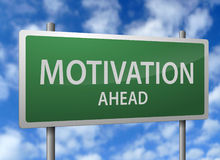 Sinal da estrada da motivação adiante ilustração do vetor