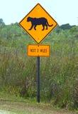 Sinal da estrada das panteras de Florida Foto de Stock