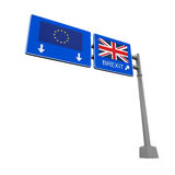 Sinal da estrada de Brexit Imagens de Stock