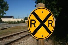 Sinal da estrada de ferro Fotografia de Stock