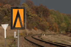 Sinal da estrada de ferro Fotos de Stock