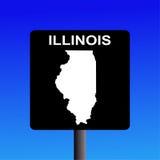 Sinal da estrada de Illinois Fotografia de Stock