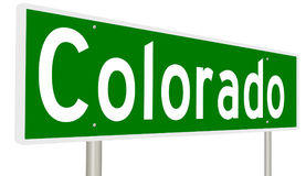 Sinal da estrada para o estado de Colorado ilustração do vetor