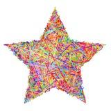 Sinal da estrela composto de colorido Fotos de Stock