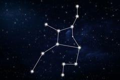 Sinal da estrela do horóscopo da Virgem fotos de stock royalty free