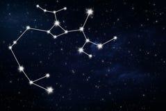 Sinal da estrela do horóscopo do Sagitário fotografia de stock