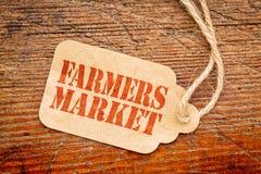 Sinal da etiqueta de preço de mercado dos fazendeiros imagem de stock royalty free