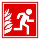 Sinal da evacuação do fogo ilustração royalty free