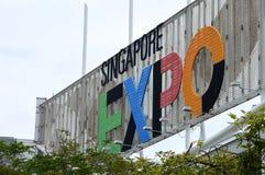 Sinal da expo de Singapura Imagem de Stock Royalty Free
