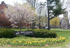 Sinal da faculdade da esperança Imagens de Stock Royalty Free