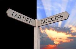 Sinal da falha ou de sentido do sucesso Fotos de Stock