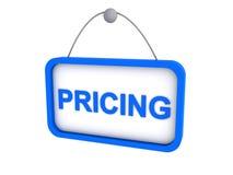 Sinal da fixação do preço Imagens de Stock