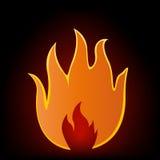 Sinal da flama ilustração do vetor