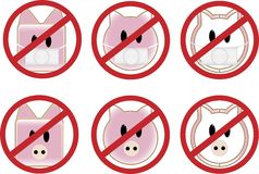 Sinal da gripe dos suínos Imagens de Stock Royalty Free