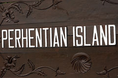 Sinal da ilha de Perhentian Foto de Stock