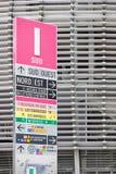 Sinal da informação do estádio de futebol de Pierre Mauroy Foto de Stock