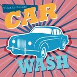 Sinal da lavagem de carros Imagens de Stock Royalty Free