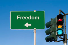 Sinal da liberdade imagem de stock royalty free