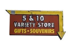 sinal da loja 5&10 Fotos de Stock Royalty Free