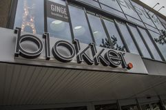 Sinal da loja de Blokker em Amsterdão os Países Baixos Foto de Stock