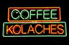 Sinal da loja de Coffe Imagem de Stock