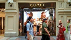 Sinal da loja de Gucci Foto de Stock