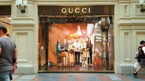 Sinal da loja de Gucci Fotos de Stock Royalty Free