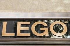 Sinal da loja de Lego Imagens de Stock