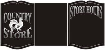 Sinal da loja de país Imagem de Stock