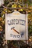 Sinal da loja do carpinteiro Imagens de Stock Royalty Free