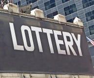 Sinal da loteria Fotos de Stock Royalty Free