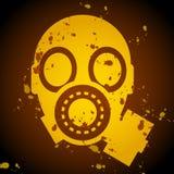 Sinal da máscara de gás ilustração royalty free