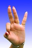 Sinal da mão Fotos de Stock