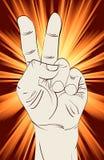 Sinal da mão da vitória Imagem de Stock Royalty Free