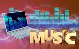 sinal da música do espectro 3d Imagens de Stock Royalty Free