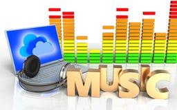 sinal da música do sinal da música 3d ilustração stock